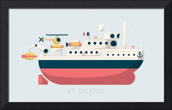Minimalist Jacques Cousteau's Research Vessel Caly