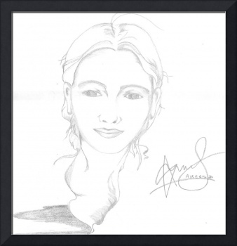Aireen Deviani - B&W sketch portrait