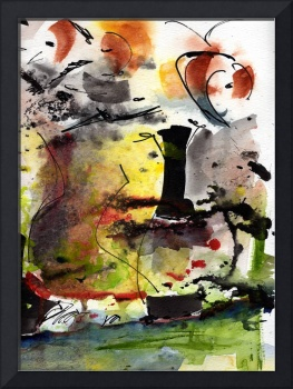 Intuitive Abstract Series # 03_B by Ginette