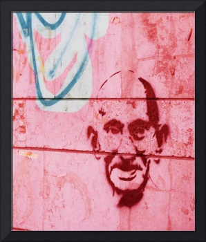 Ghandi_Wall Graffiti in Jerusalem, Israel