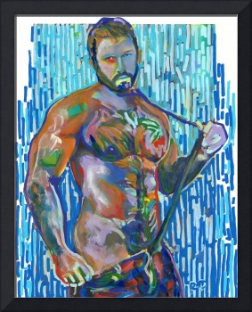 Snap, Sexy Man Beefcake Painting Picture