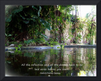 Reflections w/inspirational quote