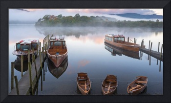 Fishing Boats on Derwentwater in England