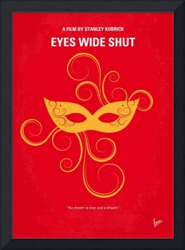 No164 My Eyes wide shut minimal movie poster