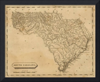Vintage Map of South Carolina (1812)