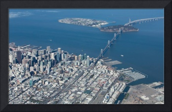 San Francisco Bay Bridge Aerial Photograph