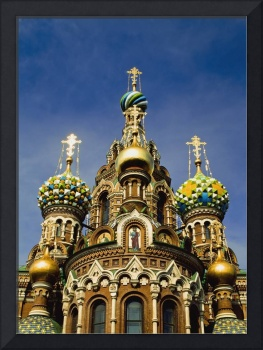Ornate Exterior Of Church Of Spilled Blood Saint