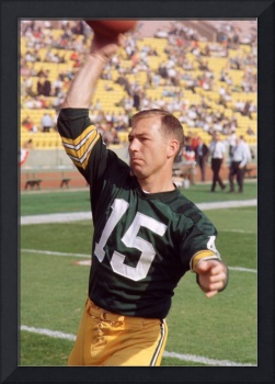 Bart Starr pregame throwing