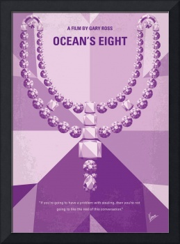 No995 My Oceans Eight minimal movie poster
