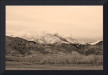 December 16th Twin Peak Sunrise Sepia View