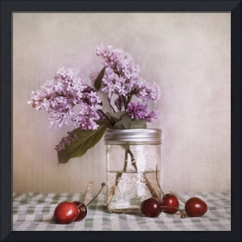 lilac and cherries