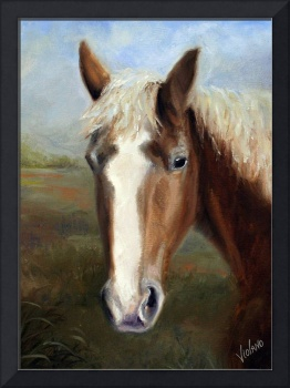Waiting for Dinah- Rescued Draft Horse by Violano