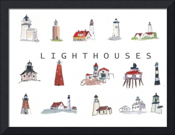 Collection of Lighthouses around the World