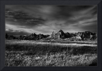 South Dakota Badlands BW