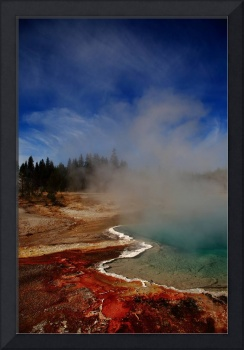 Yellowstone Park Geyser