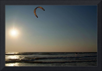 Kitesurfing at Sunset Mandrem