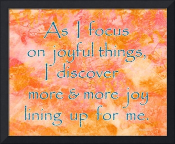 Affirmation: Joyful Things 6