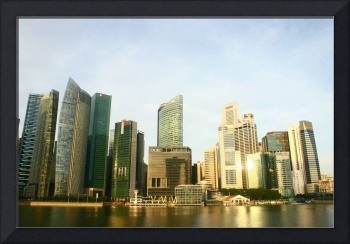 City skyline 2014, Singapore in color
