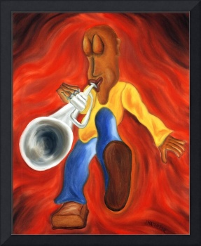Boogie Fever, Whimsical Trumpet Player Art