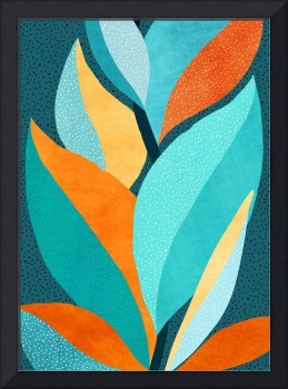 Abstract Tropical Foliage