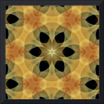 Autumn Shades Hexagonal Flower Fractal