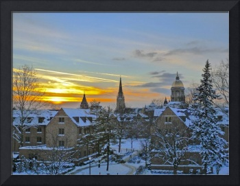Winter Sunset at Notre Dame
