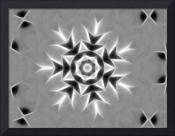 Gray Kaleidoscope Art 20 Little Snowflake
