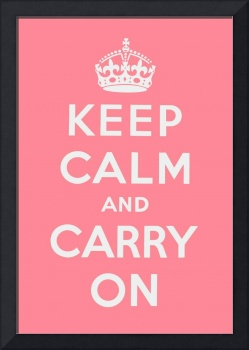 Pink Keep Calm And Carry On 1