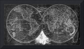 World Map (1811) Black & White