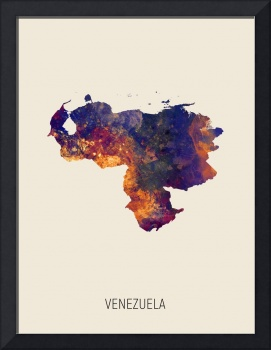 Venezuela Watercolor Map