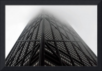 Hancock Tower into the fog
