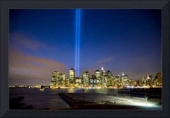 911 - Tribute in Light Over NYC