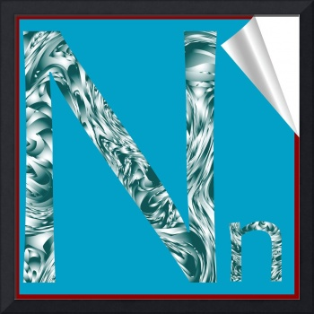 alphabet letter N sticker