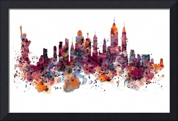 New York Skyline Watercolor