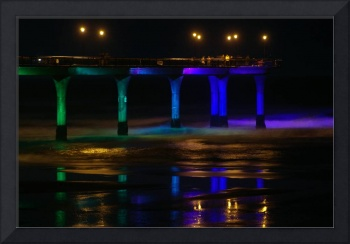 New Brighton Pier Green and Blue reflection