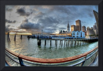 Fish Eye view of the SF Ferry Building