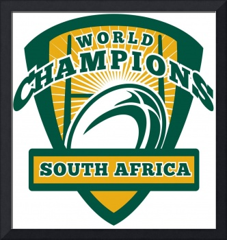 Rugby ball South Africa World Champions