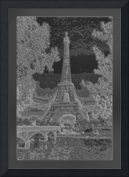 Abstract Decorative B&W version of Amber Eiffel To