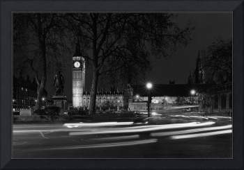 Westminster Palace, Night Traffic, London