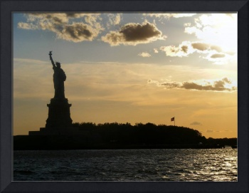 Staue of Liberty Sunset