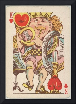 Vintage King of Hearts Playing Card (1889)