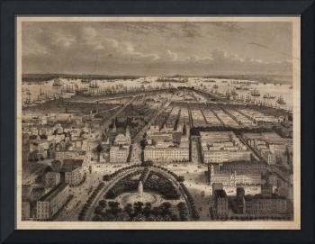 Vintage Pictorial Map of New York City (1840)