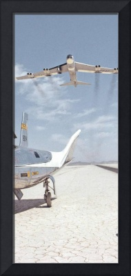 HL-10 on Lakebed with B-52 Flyby Panel 2