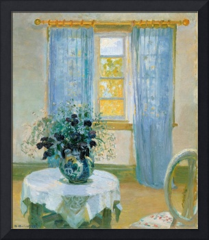 Interior with Clematis by Anna Ancher, 1913.