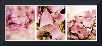 Spring Assemblage Triptych