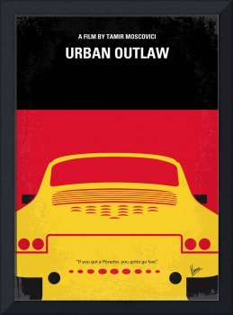 No316 My URBAN OUTLAW minimal movie poster