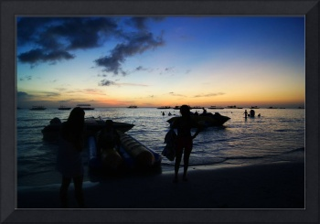 Twilight-Water. Bracay. Philippines
