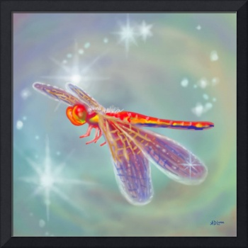 Glowing Dragonfly