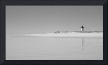 Black and White Photography Isolated Lighthouse