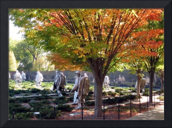korean war memorial during fall washington dc